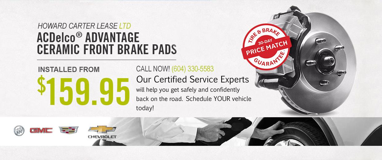 ACDelco Advantage Ceramic Front Brake Pads