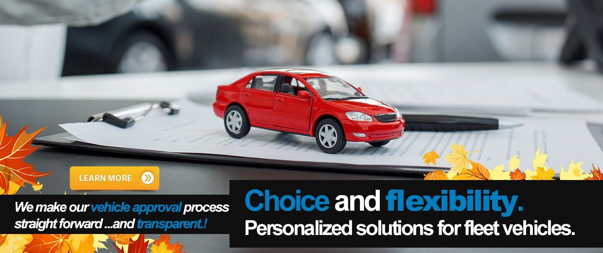 Choice and flexibility. Personalized solutions for fleet vehicles.